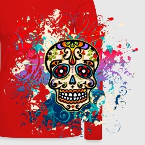 Mexican Sugar Skull - Day of the Dead T-Shirts - Women's Premium Longsleeve Shirt