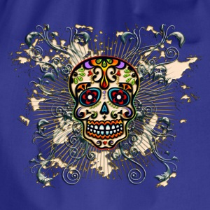 Mexican Sugar Skull - Day of the Dead T-shirts - Gymnastikpåse