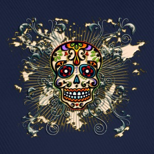 Mexican Sugar Skull - Day of the Dead T-shirts - Basebollkeps