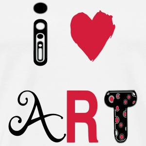 Heart art Bags & backpacks - Men's Premium T-Shirt