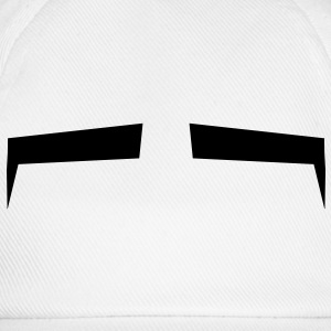 Slits for eyes or Eyebrows background shape Shirts - Baseball Cap
