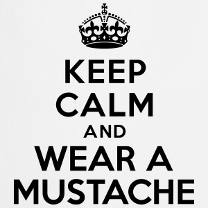 Keep calm and wear mustache Bouteilles et tasses - Tablier de cuisine
