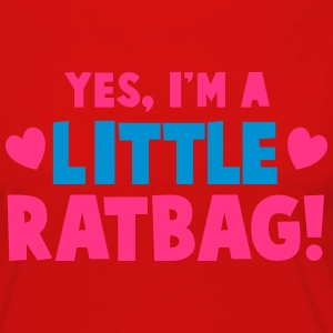 YES, I'm a little RATBAG! naughty child funny  T-Shirts - Women's Premium Longsleeve Shirt