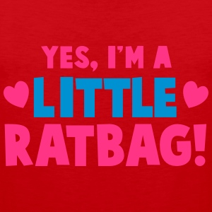 YES, I'm a little RATBAG! naughty child funny  T-Shirts - Men's Premium Tank Top