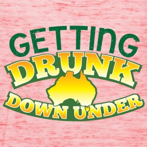 GETTING DRUNK DOWN UNDER T-Shirts - Women's Tank Top by Bella