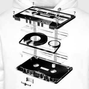 Wit Compact Cassette- Tape - Music - 80s T-shirts - Mannen Premium hoodie