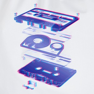 White audio cassette tape compact 80s retro walkman Men's Tees - Drawstring Bag