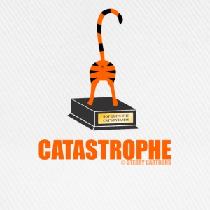 Catastrophe: Rude Cat Joke by Sterry Cartoons Bottles & Mugs - Baseball Cap