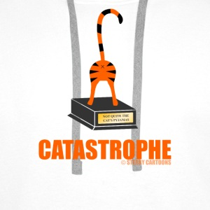 Catastrophe: Rude Cat Joke by Sterry Cartoons Bottles & Mugs - Men's Premium Hoodie