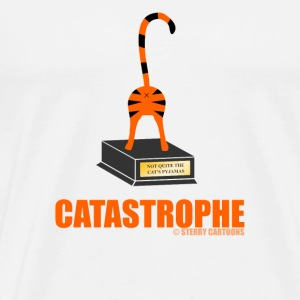 Catastrophe: Rude Cat Joke by Sterry Cartoons Phone & Tablet Cases - Men's Premium T-Shirt