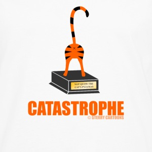 Catastrophe: Rude Cat Joke by Sterry Cartoons Phone & Tablet Cases - Men's Premium Longsleeve Shirt