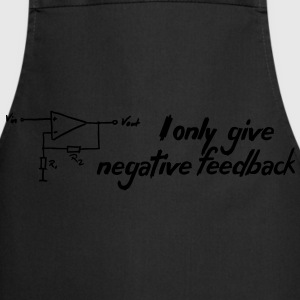 I only give negative Feedback Men's Slim Fit Tee - Kochschürze