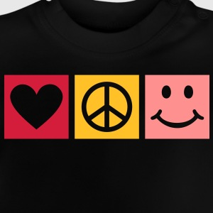 Love Peace Happiness * Smiley Smilie Herz Peace  T-Shirts - Baby T-Shirt