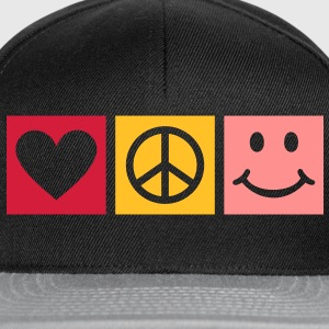 Love Peace Happiness * Smiley Smilie Herz Peace  T-Shirts - Snapback Cap