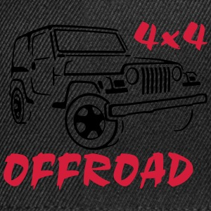 4x4 Off-Road Jeep Rubicon T-Shirt - Snapback cap