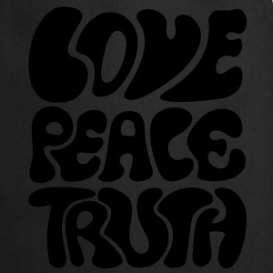 Love Peace Truth * Lifestyle 70s T-Shirts Goa Shirts - Keukenschort