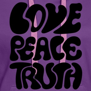 Love Peace Truth * Lifestyle 70s T-Shirts Goa T-shirts - Premiumluvtröja dam