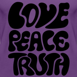 Love Peace Truth * Lifestyle 70s T-Shirts Goa Shirts - Women's Premium Tank Top