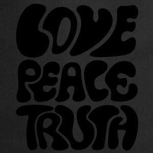 Love Peace Truth * Lifestyle 70s T-Shirts Goa Sweatshirts - Forklæde