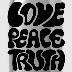 Love Peace Truth * Lifestyle 70s T-Shirts Goa Sweatshirts - Drikkeflaske