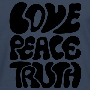 Love Peace Truth * Lifestyle 70s T-Shirts Goa Sweatshirts - Herre premium T-shirt med lange ærmer