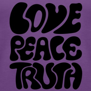 Love Peace Truth * Lifestyle 70s T-Shirts Goa Sweatshirts - Dame Premium tanktop