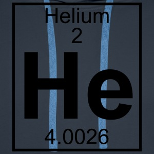 Periodic table element 2 - He (helium) - BIG T-shirts - Mannen Premium hoodie
