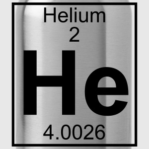Periodic table element 2 - He (helium) - BIG T-shirts - Drinkfles