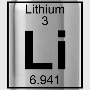 Periodic table element 3 - Li (lithium) - BIG Koszulki - Bidon