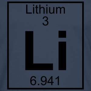 Periodic table element 3 - Li (lithium) - BIG T-shirts - Herre premium T-shirt med lange ærmer