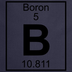 Periodic table element 5 - B (boron) - BIG Koszulki - Fartuch kuchenny