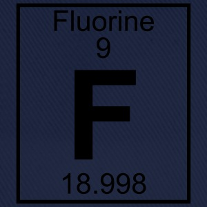 Periodic table element 9 - F (fluorine) - BIG T-shirts - Basebollkeps