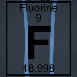 Periodic table element 9 - F (fluorine) - BIG T-shirts - Herre Premium hættetrøje