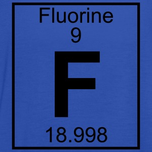 Periodic table element 9 - F (fluorine) - BIG T-skjorter - Singlet for kvinner fra Bella