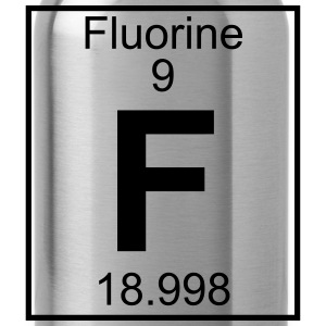 Periodic table element 9 - F (fluorine) - BIG Koszulki - Bidon