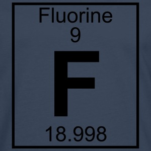 Periodic table element 9 - F (fluorine) - BIG T-shirts - Herre premium T-shirt med lange ærmer