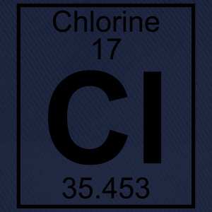 Periodic table element 17 - Cl (chlorine) - BIG T-skjorter - Baseballcap