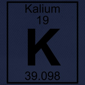 Periodic table element 19 - K (kalium) - BIG T-skjorter - Baseballcap