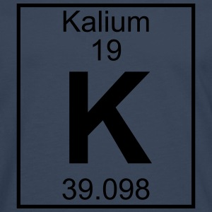 Periodic table element 19 - K (kalium) - BIG T-skjorter - Premium langermet T-skjorte for menn