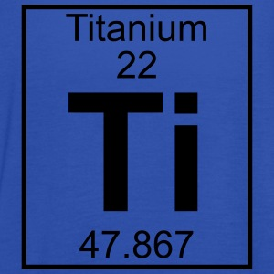 Periodic table element 22 - Ti (titanium) - BIG Camisetas - Camiseta de tirantes mujer, de Bella