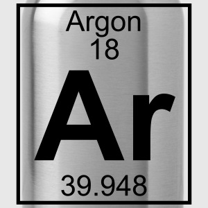 Periodic table element 18 - Ar (argon) - BIG T-shirts - Drinkfles