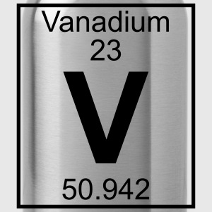 Periodic table element 23 - V (vanadium) - BIG Koszulki - Bidon