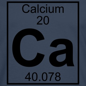 Periodic table element 20 - Ca (calcium) - BIG T-shirts - Herre premium T-shirt med lange ærmer
