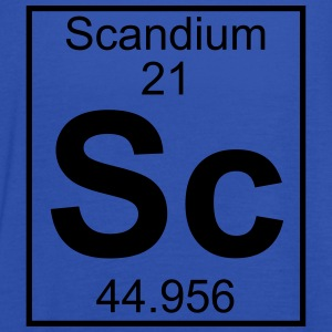 Periodic table element 21 - Sc (scandium) - BIG T-skjorter - Singlet for kvinner fra Bella