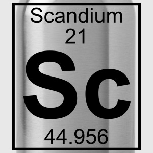 Periodic table element 21 - Sc (scandium) - BIG T-shirts - Drinkfles