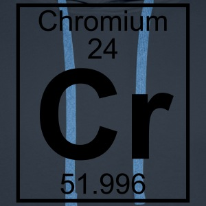 Periodic table element 24 - Cr (chromium) - BIG T-shirts - Herre Premium hættetrøje
