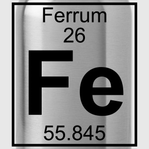 Periodic table element 26 - Fe (ferrum) - BIG Koszulki - Bidon