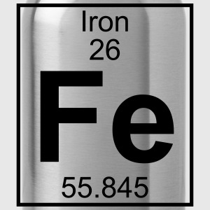Periodic table element 26 - Fe (iron) - BIG Koszulki - Bidon