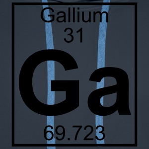 Periodic table element 31 - Ga (gallium) - BIG T-shirts - Herre Premium hættetrøje