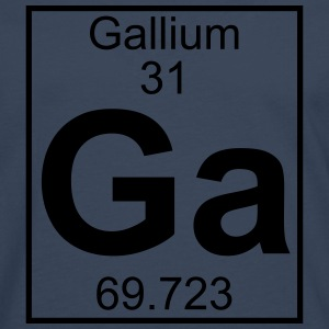 Periodic table element 31 - Ga (gallium) - BIG T-shirts - Herre premium T-shirt med lange ærmer